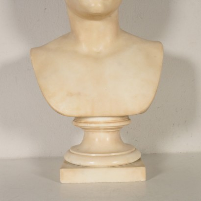 Bust of Julius Caesar White Marble Italy 19th Century