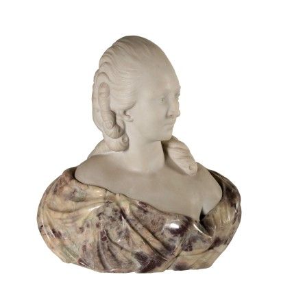 Marble Bust of a Woman Italy Early 20th century