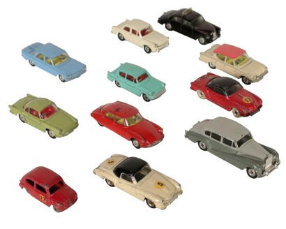 Set Model Cars by Corgi and Dinki toys England Vintage 1960s