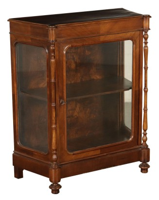 Small Display Cabinet Walnut Italy 19th Century