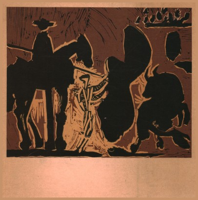 Picasso. Engravings on linoleum and Bullfighting