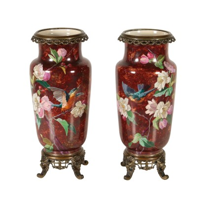 Pair of Vases Bronze Europe Early 20th Century