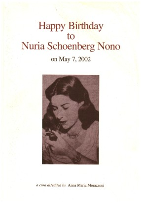 Happy Birthday to Nuria Schoenberg Nono