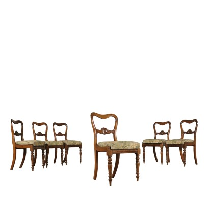 Six Chairs Rosewood France Mid 19th Century