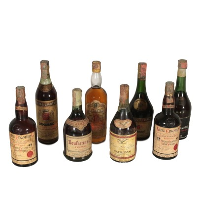 Lot of Vintage Bottles of Cognac and Scotch Whiskyes France