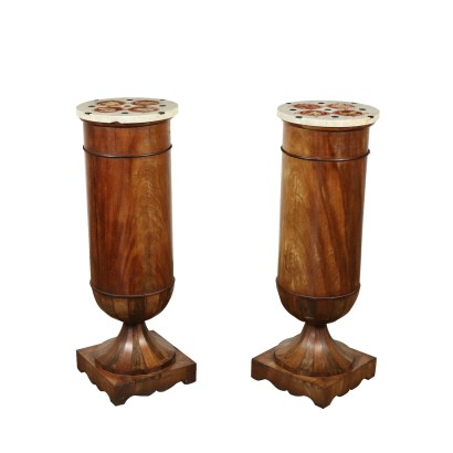 Pair of Columns with Marble tops