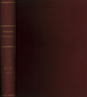 Reviews of Modern Physics, 1971. Volume 43, 1-4