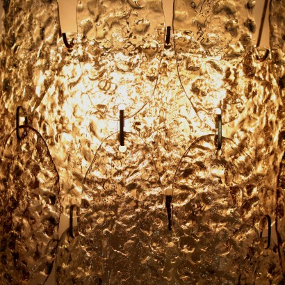 Wall Light Metal Crystal Vintage Italy 1960s