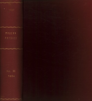 Reviews of Modern Physics, 1964. Volume 36, 1-4