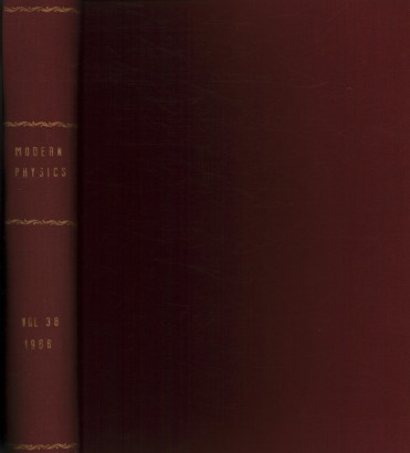 Reviews of Modern Physics, 1966. Volume 38, 1-4