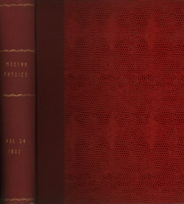 Reviews of Modern Physics, 1962. Volume 34, 1-4