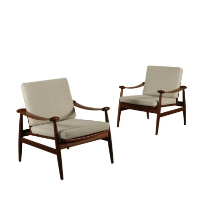 Pair of Armchairs by Finn Juhl Vintage Italy 1950s