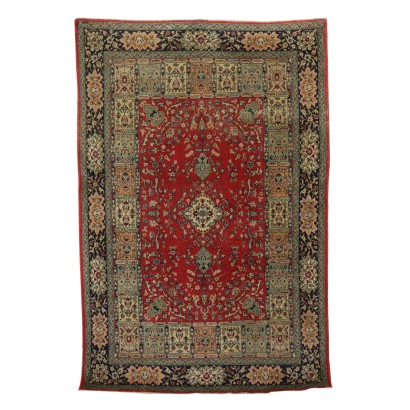 Handmade Tabriz Carpet Iran Cotton Wool 1980s-1990s