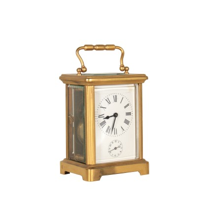 Carriage Clock Gilded Bronze Glass 19th Century