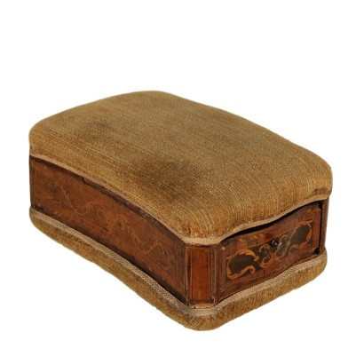 Neoclassical Sewing Box Wood Fabric Italy 18th Century