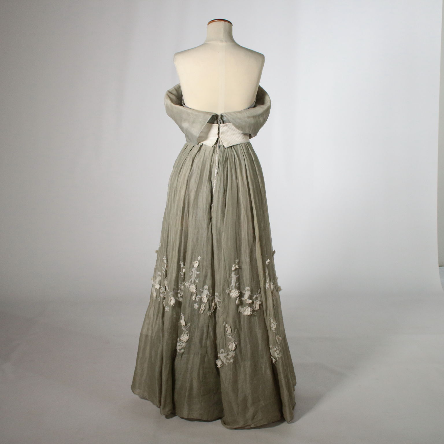 74aadc9b2c3de Vintage Evening Dress with Embroidery Made in Italy 1950s