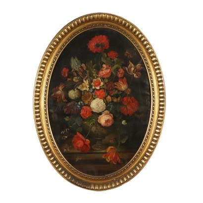 Still Life with Flowers Oil Painting Early 20th Century