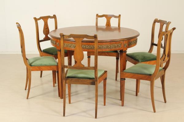 Gruppo 6 sedie mobili in stile bottega del 900 for Gruppo mobili