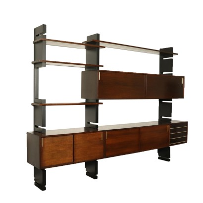 Bookcase for Amma Lacquered Wood Vintage Italy 1960s
