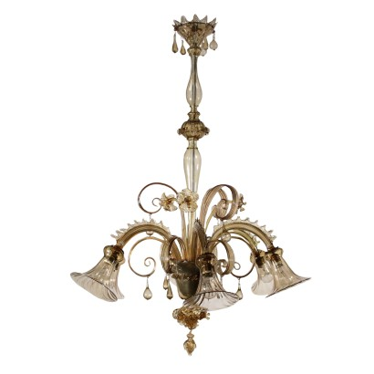 Glass Chandelier from Murano Italy 20th Century