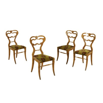 Set of Four Biedermeier Chairs Austria 19th Century