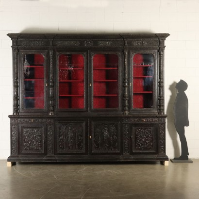 Large Double Body Bookcase France Late 1800s