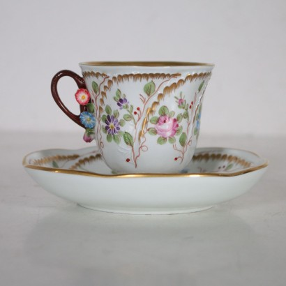 Decorated Cup Manufactured in Sevres France Late 1800s