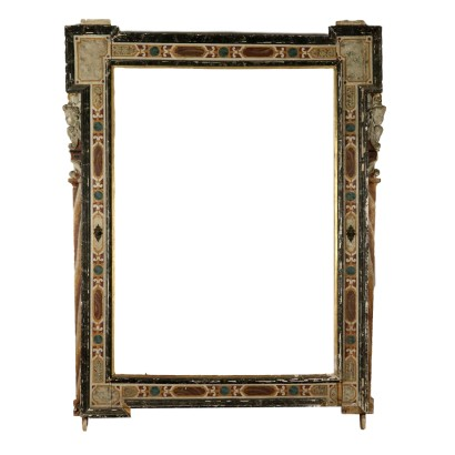 Large Lacquered Frame Italy 17th-18th Century