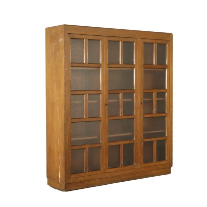 Cabinet with Glass Doors Vintage Italy 1940s