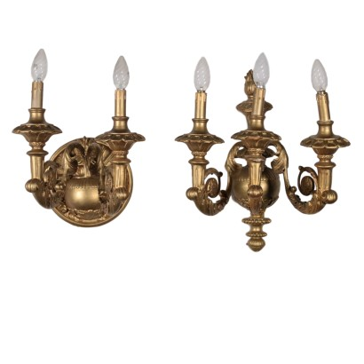 Pair of Gilded Sconces Italy 20th Century