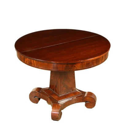 Round Extending Table Mahogany France 19th Century