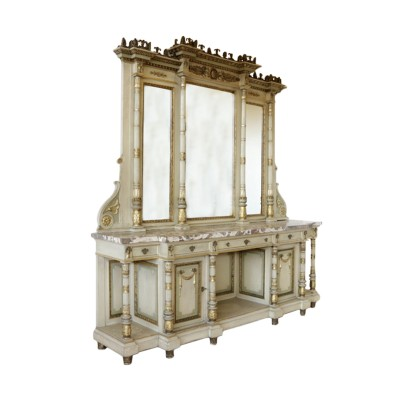 Glass Cabinet Neoclassical Style Italy 20th Century