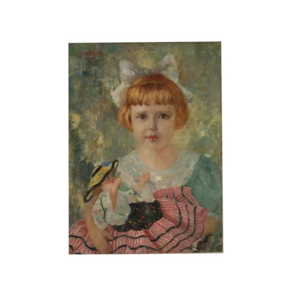 Portrait by Giuseppe Bettinelli Girl with Doll 1937