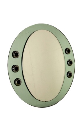 Mirror with Lights Vintage Italy 1960s