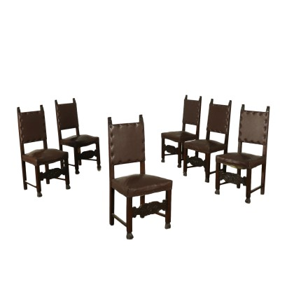Set of Chairs Renaissance Style Italy 20th Century