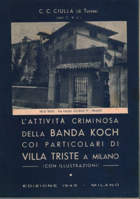 The criminal activity of the Koch Gang with the details of Villa trieste in Milan