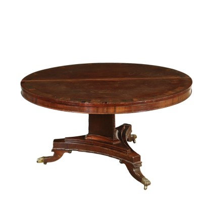 Tilt-top Table Rosewood Inlays England Mid 1800s