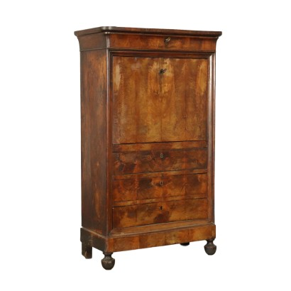 Secretaire with Drop-leaf Walnut Italy Mid 1800s
