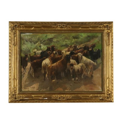 Naturalistic Subject by Eugenio Scorzelli The Flock 20th Century