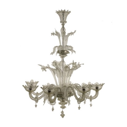 Large Chandelier Murano Glass Italy 20th Century