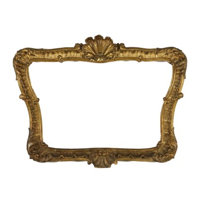 Antique Gilded Carved Frame Italy 20th Century