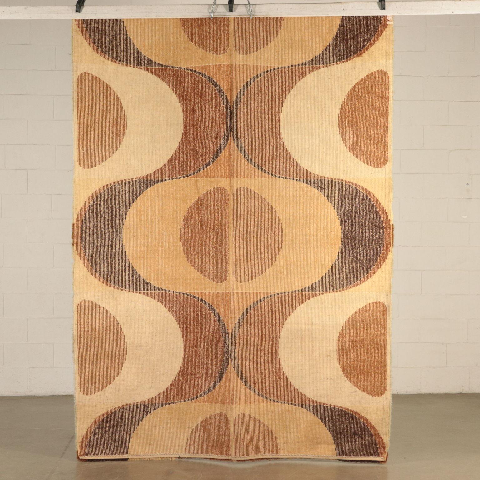 tapis vintage shaggy melange de laine