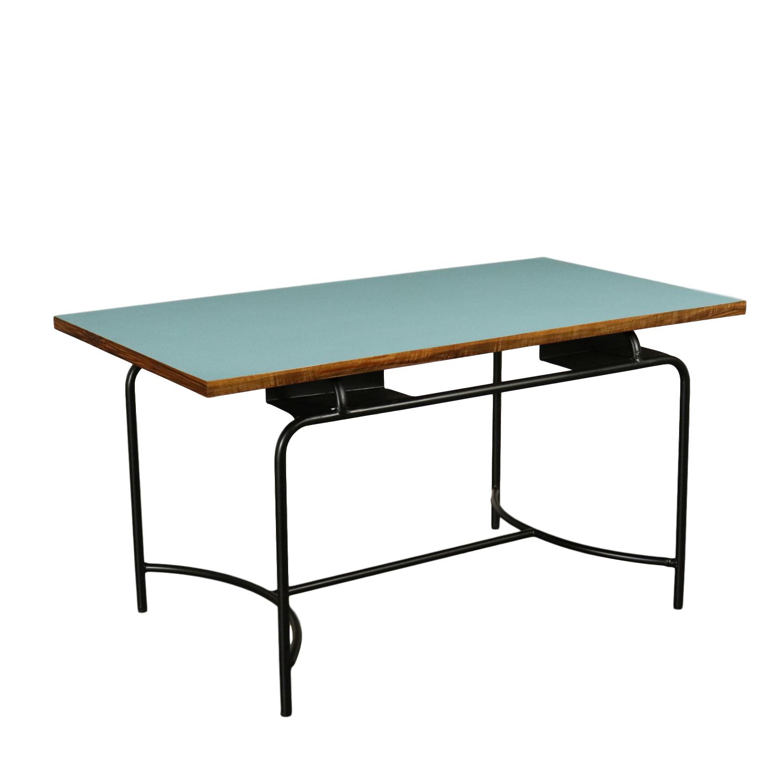 Tavolo Formica Vintage.Table Formica Wood Metal Vintage Italy 1960s