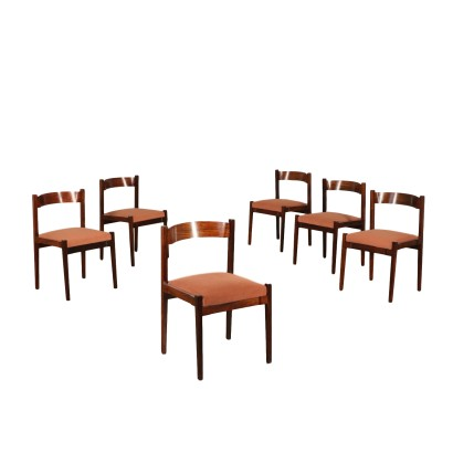 Set of Chairs by Giancarlo Frattini Vintage Italy 1960s