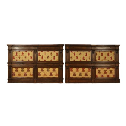 Pair of Walnut Wainscotings Italy 18th Century