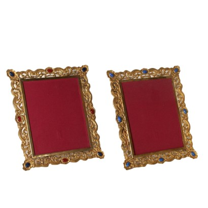Pair of Frames Gilded Bronze 20th Century
