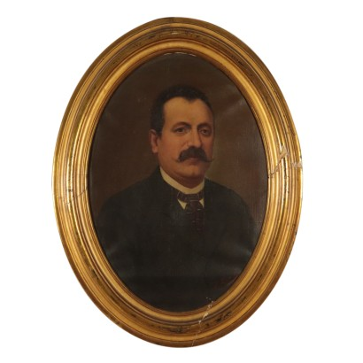 Portait of a Man Oil Painting Late 19th Century