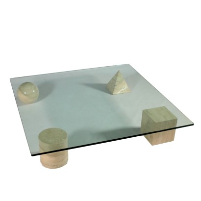 Coffee Table by Lella and Massimo Vignelli Vintage Italy 1980s