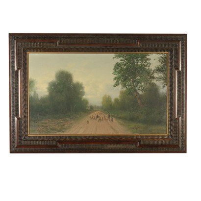Rural Scene by Giovanni Pisano Landscape with Flock of Sheep 1900s