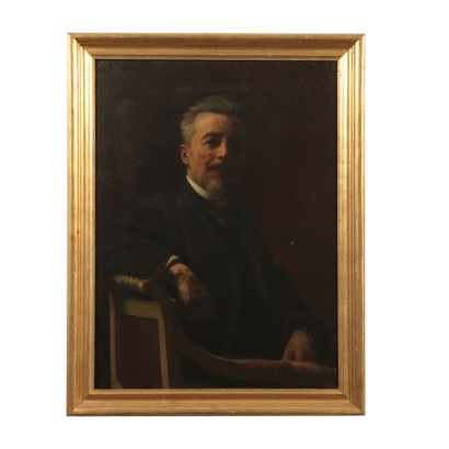 Portrait of a Man Oil Painting Late 19th Century